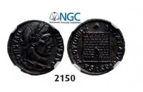 Lot: 2150. Roman Empire, Constantine I, 307-337 AD, Æ3 (Nummus) (Struck 328-329 AD) Siscia, Billon (2.71g), NGC MS