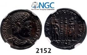 Lot: 2152. Roman Empire, Constantine I, 307-337 AD, Æ3 (Nummus) (Struck 332-333 AD) Trier, Billon (2.34g), NGC MS