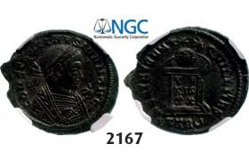 Lot: 2167. Roman Empire, Constantine II as Caesar, 337-361 AD, Æ3 (Nummus) (Struck 338-339 AD) Trier, Billon (3.45g), NGC AU
