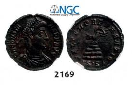 Lot: 2169. Roman Empire, Constans, 337-350, Half-Centenionalis (Struck 348-350 AD) Siscia, Billon (2.53g), NGC Ch AU