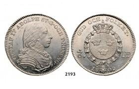 Lot: 2193. Sweden, Gustav IV Adolf, 1792-1809, 1/6 Riksdaler 1809-O/L, Stockholm, Silver