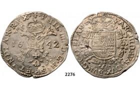 Lot: 2276. Belgium, Flandern, Philip IV. Of Spain, 1621-1665, Patagon 1642, Bruges, Silver