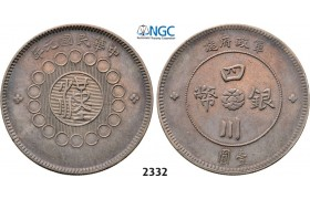 Lot: 2332. China, Szechuan Province, Yuan (Dollar) Year 1 (1912) Chengdu, Silver, NGC AU