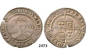 Lot: 2473. Great Britain, Edward VI, 1547-1553 , Shilling, No date (Struck 1551-1553) London, Silver