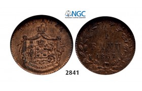 Lot: 2841. Romania, Carol I, 1866-1914, Banu 1867 Heaton, Birmingham, Copper, NGC MS64RB