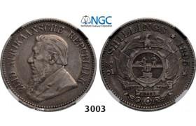 Lot: 3003. South Africa, Zuid-Afrikaansche Republiek (ZAR), 2 1/2 Shillings 1895, Silver, NGC VF35