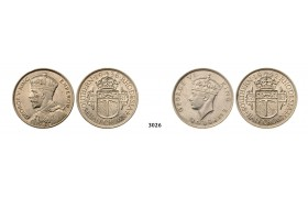 Lot: 3026. Southern Rhodesia (Zimbabwe), George VI, 1936-1952, Silver lot