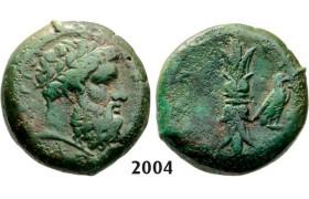 05.05.2013, Auction 2/ 2004. Ancient Greek, Syracuse, Hemilitron (Struck 344-336 BC) Bronze (13.01g)