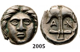 05.05.2013, Auction 2/ 2005. Ancient Greek,Thrace, Apollonia Pontica, Diobol (Struck 400-350 BC) Silver (1.21g)