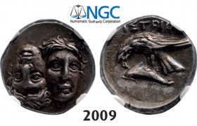 05.05.2013, Auction 2/ 2009. Ancient Greek, Moesia, Istros, Drachm (4 th Century BC) Silver (5.71g) NGC AU