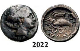 05.05.2013, Auction 2/ 2022. Ancient Greek, Euboia, Chalkis Drachm (Struck 340-294 BC) Silver (2.98g)