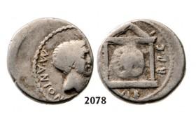 05.05.2013, Auction 2/ 2078. Roman Republic, M. Antonius (42 BC) Denarius, Moving Mint, Silver (4.05g)