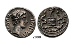 05.05.2013, Auction 2/2080. Roman Empire, Augustus, 27 BC – 14 AD, Quinarius (29-27 BC) Undetermined Italian mint, Silver (1.96g)