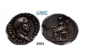 05.05.2013, Auction 2/2083. Roman Empire, Vitellius, 69 AD, Fine Style Denarius (Struck 69 AD) Rome, Silver (2.97g), NGC Ch VF*