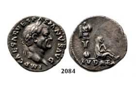 05.05.2013, Auction 2/2084. Roman Empire, Vespasian, 69-­79 AD, Denarius (Struck 69­71 AD) Rome, Silver (2.51g)