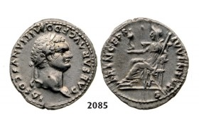 05.05.2013, Auction 2/2085. Roman Empire, Domitian, 81­-96 AD, Denarius (Struck 79 AD) Rome, Silver (3.51g)