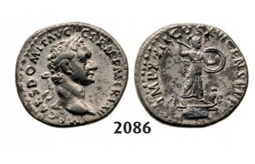 05.05.2013, Auction 2/2086. Roman Empire, Domitian, 81­-96 AD, Denarius (Struck 88-­89 AD) Rome, Silver (3.57g)