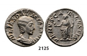 05.05.2013, Auction 2/2125. Roman Empire, Julia Soemias, mother of Elagabal, 218-­222 AD, Denarius (Struck 218-­222 AD) Rome, Silver (3.02g)