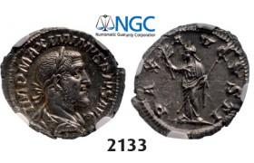 05.05.2013, Auction 2/ 2133. Roman Empire, Maximinus I Thrax, 235-238 AD, Denarius (Struck 236-238 AD) Rome, Silver (3.46g), NGC Ch AU