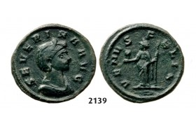 05.05.2013, Auction 2/2139. Roman Empire, Severina, wife of Aurelian, 270-­275 AD, Æ (Denarius) (Struck 275 AD) Rome, Billon (2.66g)