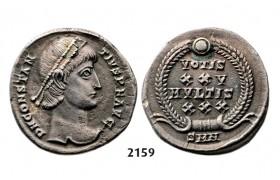 05.05.2013, Auction 2/2159. Roman Empire, Constantine II as Caesar, 337-361 AD, Siliqua (Struck 340-351 AD) Nicomedia, Silver (3.46g)