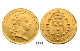 05.05.2013, Auction 2/ 2197. Sweden, Karl XIII, 1809-1818, Dukat 1813-O/L, Stockholm, GOLD