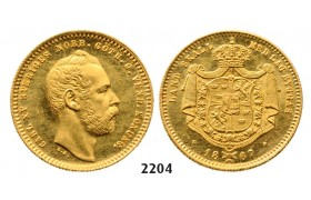 05.05.2013, Auction 2/2204. Sweden, Carl XV, 1859-­1872, Dukat 1867­-S/T, Stockholm, GOLD
