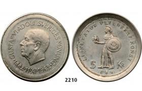 05.05.2013, Auction 2/ 2210. Sweden, Patterns & Trial strikes, Gustav VI Adolf, 1950-1973, Trial strike of 5 Kronor 1962-U, Stockholm (SM 6) on a larger planchet