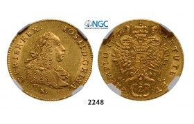 05.05.2013, Auction 2/ 2248. Austria, Joseph II. as coregent, 1765-1780, 2 Ducats 1776-E/HG, Karlsburg, GOLD, NGC MS61 2 Ducats 1776-E/HG, Karlsburg, GOLD (6.98g