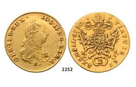 05.05.2013, Auction 2/ 2252. Austria, Joseph II. as coregent, 1765-1780, 2 Ducats 1780-E/HS, Karlsburg, GOLD