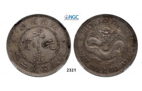 05.05.2013, Auction 2/ 2321. China, Kiangnan Province, 7 Mace 2 Candareens (Dollar) No Date (1897) Nanjing, Silver , NGC AU50