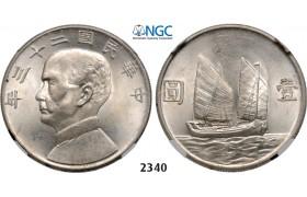 "05.05.2013, Auction 2/ 2340. China, Republic, Yuan (Dollar) 1934 ""Junk"" Silver, NGC MS63"