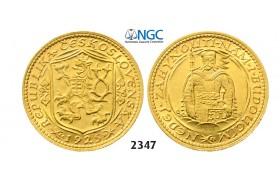 05.05.2013, Auction 2/ 2347. Czechoslovakia, Dukat 1925, GOLD, NGC MS64