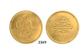 05.05.2013, Auction 2/ 2369. Egypt, Abdul Hamid II, AH1293-1327 (1876-1909 AD), 10 Qirsh AH1293/17 (1891) GOLD