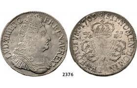 05.05.2013, Auction 2/ 2376. France, Louis XIV, 1643-1715, Ecu 1709, Mint mark not visible, Silver
