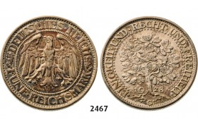 05.05.2013, Auction 2/ 2467. Germany, Empire, standard coinage, Weimar Republic, 1919-1933, 5 Reichsmark 1928-G, Karlsruhe, Silver