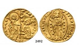 05.05.2013, Auction 2/ 2492. Greece, Crusaders, Chios, Andrea Dandolo, 1343-1354, Imitation of the Venetian Zecchino, No Date, GOLD