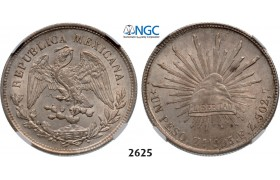 05.05.2013, Auction 2/ 2625. Mexico, Second Republic, 1867-1905, Peso 1903-Zs FZ, Zacatecas, Silver, NGC MS63