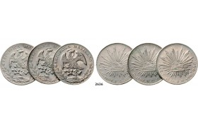 05.05.2013, Auction 2/ 2636. Mexico, Lots, Silver lot, 3 coins!