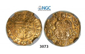 05.05.2013, Auction 2/3073. Transylvania, Habsburg occupation under Rudolph II, 1598­-1604, ¼ Ducat (Denar struck in gold) 1601­-NB, Nagybanya, GOLD, NGC MS62