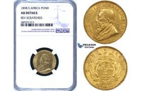 ZG81, South Africa (ZAR) Pond 1898, Gold, NGC AU Details