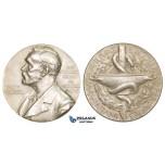ZM139, Sweden, Silver Medal 1963 (Ø26.5mm, 11.3g) Alfred Nobel, Swedish Medical Society