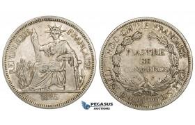 ZM148, French Indo-China, Piastre 1895-A, Paris, Silver, gVF