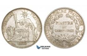 ZM151, French Indo-China, Piastre 1903-A, Paris, Silver, Lustrous AU