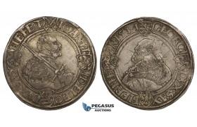 ZM165, Germany, Saxony, Johann Friedrich/Georg, Taler 1537 T, Buchholz, Silver (29.11g) Toned aEF