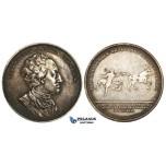 ZM170, Sweden, Silver Medal 1850 (Ø31mm, 12.13g) by Lundgren, Gustav Frederik von Rosen