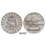 ZM244, Sweden, Art Silver Medal 1931 (Ø50mm, 56.2g) by Sporrong & Co., Train, Railroad