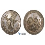 ZM270, Czech, Silver Medal 1894 (70x59mm, 78.8g) by Abraham, Agriculture Exhibition Prize