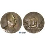 ZM271, Egypt, Bronze Medal 1929 (Ø72mm, 157.3g) by Vernier, Visit to Germany, Sphinx