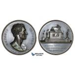 ZM290, Italy, Bronze Medal 1823 (Ø46mm, 41.1g) by Fabris, Antonio Canova, On his Death